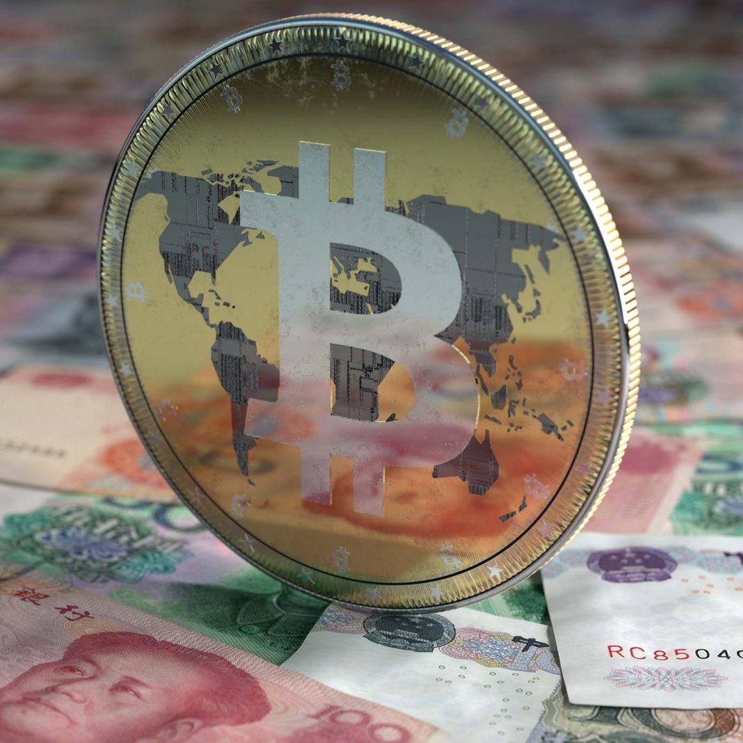Торговля биткоинами в юанях сократилась до менее 1% от общего мирового объема